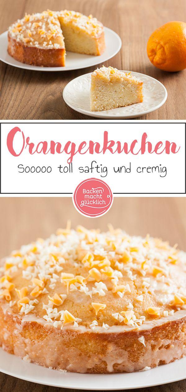 Getrankter Orangenkuchen Mit Punsch Rezept Orangenkuchen Kuchen Und Backen