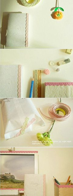 ♥DIY - Make your own Lace Tape- great for gifts, holiday or birthday cards, invitations, posters, etc.