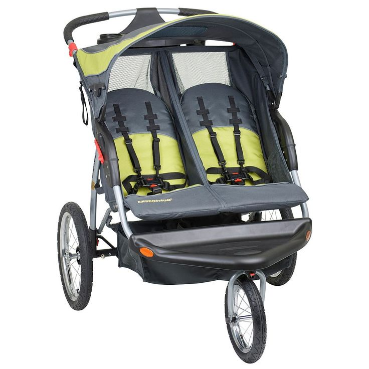Baby Trend Expedition Double Jogging Stroller, Grey