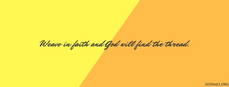 God will find the thread | Christian Facebook Cover