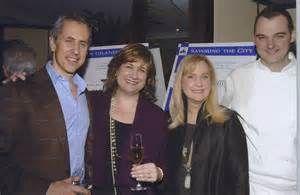 Restaurateur Danny Meyer, author Karen Page, banker Terri Dial, and Chef Daniel Humm at Citymeals' benefit at DANIEL (NYC)
