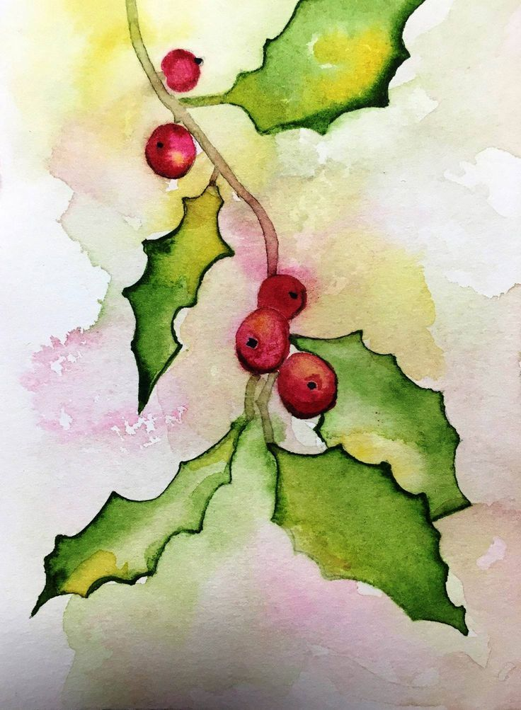 Image result for watercolor christmas