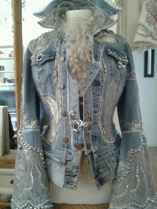Love the embellished sleeves on this jacket.