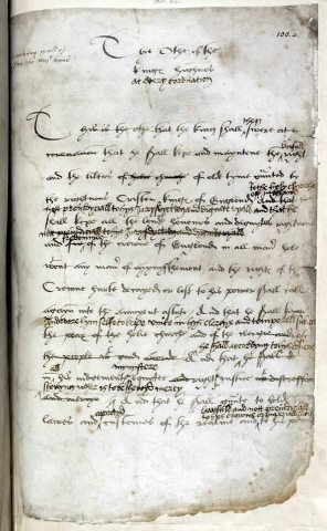 Queen Anne Boleyn  Look at this: Henry VIII\'s coronation oath with notes by Henry himself.
