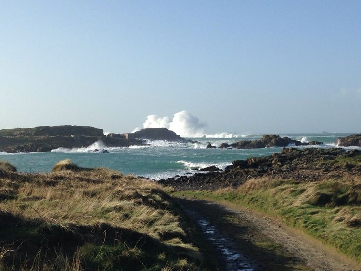 A view from Saye in January 2014. Alderney Breakwater.