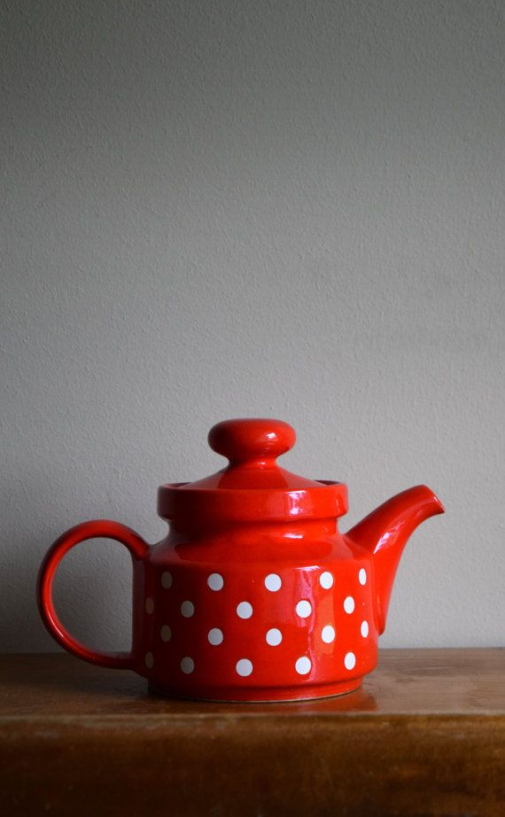 Vintage Waechtersbach West Germany Red & White by TheMagickAttic