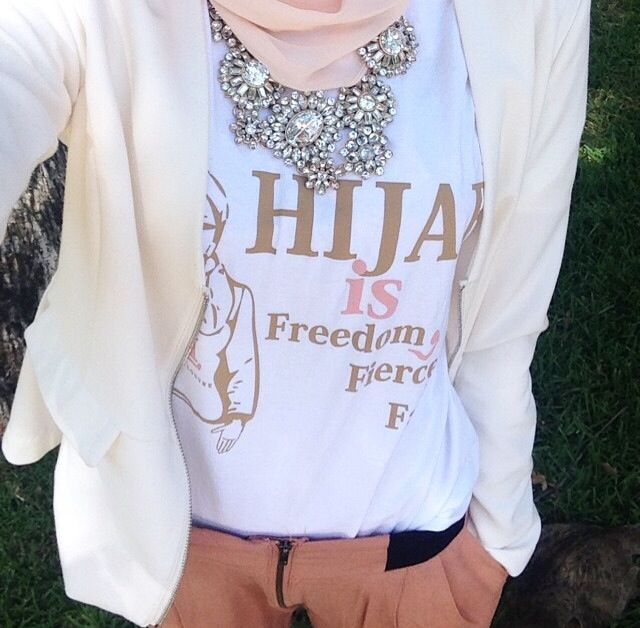 Our white hijab is ... Top worn by the beautiful @withloveleena . Also available in black , shop Www.hijablouvre.com . [Shop for a Cause; 40% off each sale goes towards the aid of #palestine; let's Suppurt our brothers and sisters , this could be any of us ]