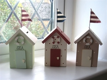 Shrimps & Tiddlers Interiors. nautical beach hut money box