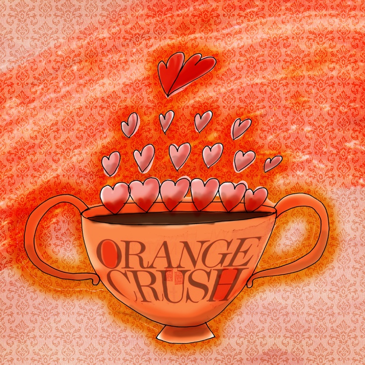 Orange crush. Spring. Easter. Sunrise. Crushing on life. What my #coffee says to me April 7