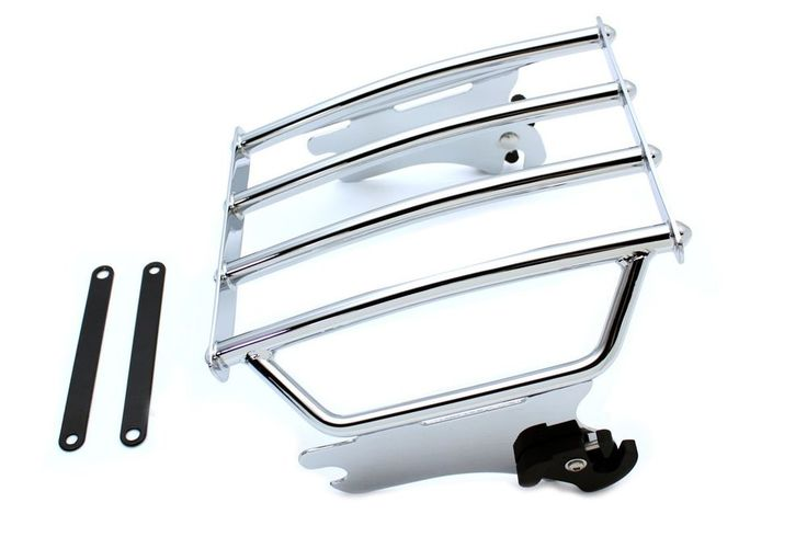 OE Luggage Rack Chrome For Harley Davidson FLHT FLHX FLHR 1997-2008 #VTwinManufacturing