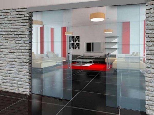 las puertas correderas de cristal son una solucin esttica de gran elegancia para separar