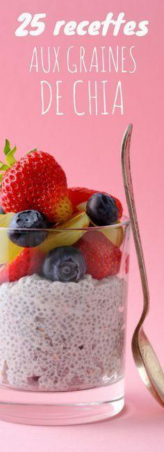 Pudding, porridge, muffins : 25 recettes de graines de chia !