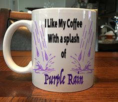 Funny Prince Purple Rain Coffee Mug