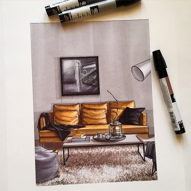 Interior Design Sketch: Best 25+ Interior Design Sketches Ideas On Pinterest