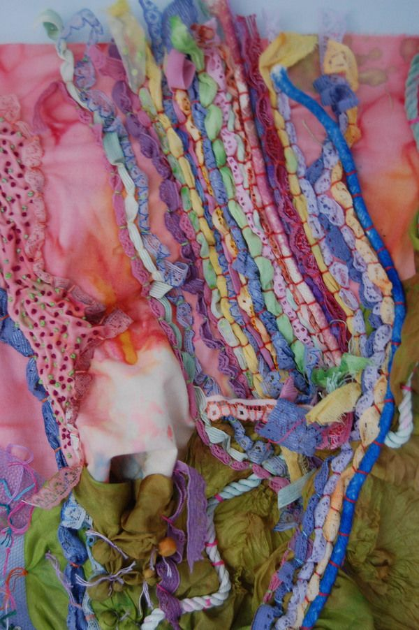 Couching and various textiles techniques to create a piece of artistic fabric. Katherine Peever   Mixed Media Textiles   http://www.katherinepeever.co.uk/