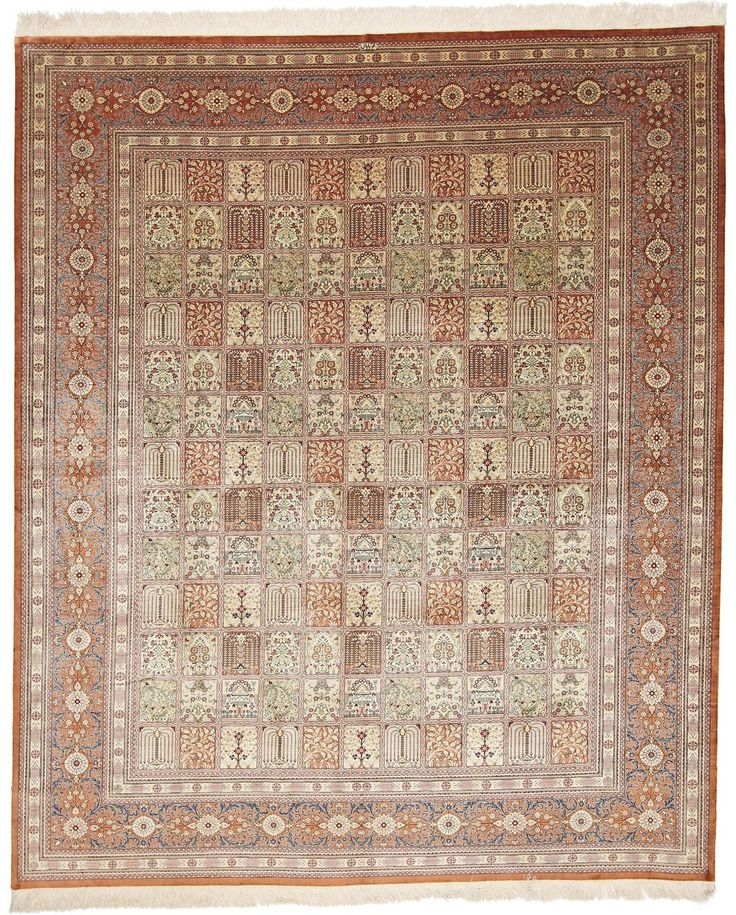 Hand Knotted Oriental Rug Qom 298x249 Cm
