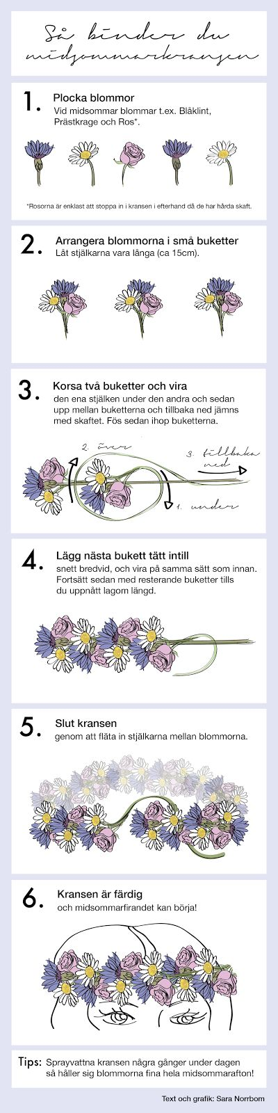 How to make a flower crown. In some language I don't understand