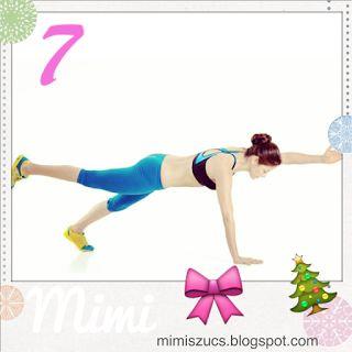 Mai gyakorlatunk hasonlít a december 2-aira: most az ellentétes kar- és lábemelés egy nehezített verzióját hoztam el, amit fekvőtámasz helyzetben kell végezni.  ✅ A helyes kivitelezés: helyezkedj el fekvőtámasz pozícióban (pár gyakorlatnál már leírtam a helyes tartást) és emeld meg az ellentétes karodat és lábadat. A karodat igyekezz a füled mellé, egyenesen nyújtani, a lábat is nyújtva. Próbáld közben a lehető legfeszesebben tartani a törzsed, nem kifordulni csípőből. Tartsd ki pár mp-ig a…
