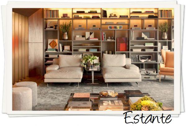 48 best images about sala on pinterest madeira for Estantes modernos