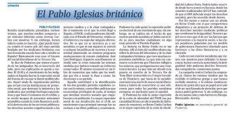 Mofes a Twitter pel títol de l'últim article de Pablo Iglesias a El País ! directe!cat, 14 DE SETEMBRE DE 2015