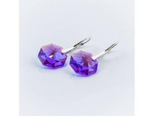 KOLCZYKI SWAROVSKI OCTAGON 14MM BLUE VIOLET SREBRO 925 - KL2174 Materiał: Srebro 925 + kryształ Swarovski Elements Kolor: Blue Violet Rozmiar kamienia: 1,4cm Wysokość kolczyka: 3,0cm Waga srebra: 1,33g ( 1 para ) Waga kolczyków z kamieniami: 4,45g