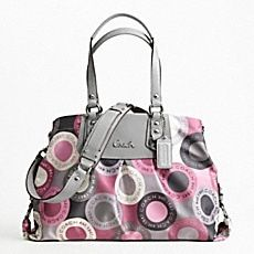 Pink  gray coach purse