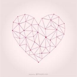 Vector heart geometric design