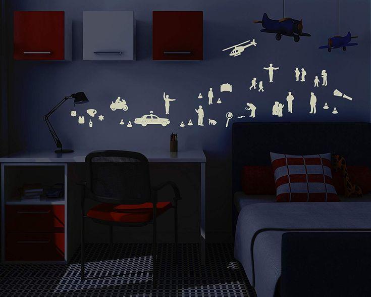 Coole Idee für die Wandgestaltung Leuchtfolie Polizei