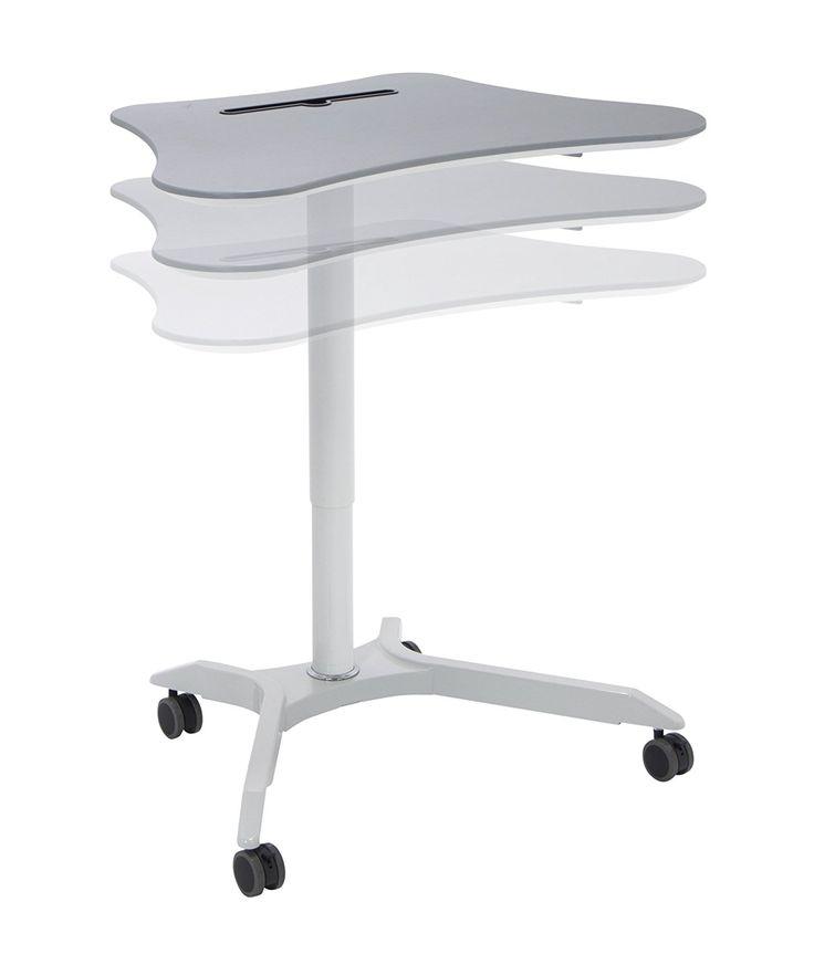 Petite table ajustable pour ordinateur portable. Pour travailler debout ou assis.