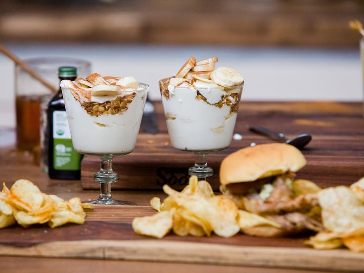 Banana Pudding recipe from Bobby Flay via Food Network Skip the cream and use milk for a breakfast parfait