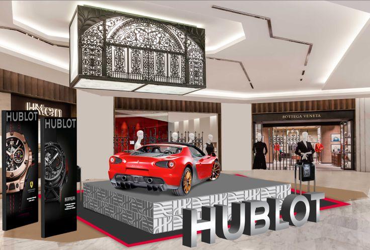 Render Ferrari-Hublot Activation #3d #Render