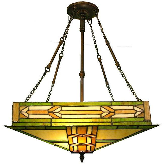 Warehouse Of Tiffany Mission 2 Light Pendant 14104 Ceiling FixturesCeiling LightingDining Room