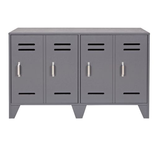 cheap buffet bas type casier en mtal gris portes doubles tagre prix promo buffet decoclico with. Black Bedroom Furniture Sets. Home Design Ideas