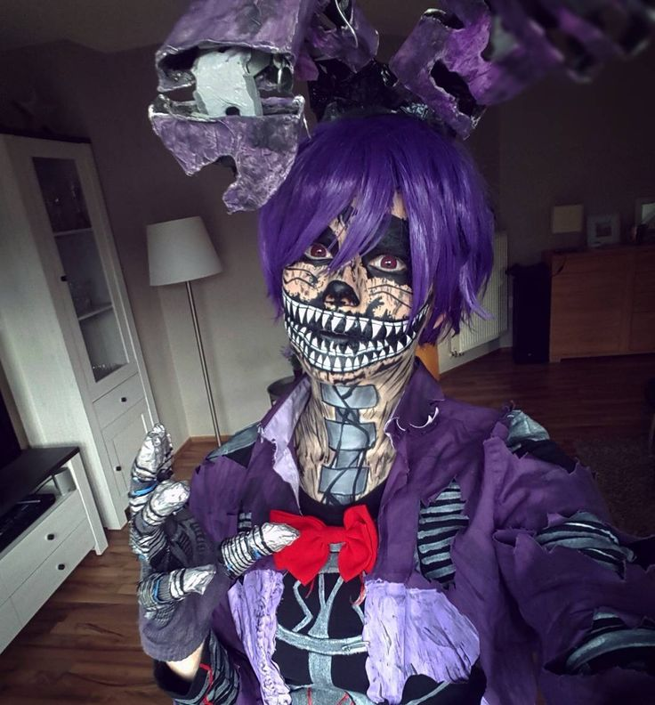 Nightmare Bonnie cosplay by MilchWoman<< not in the fnaf fandom but this is freaking amazing