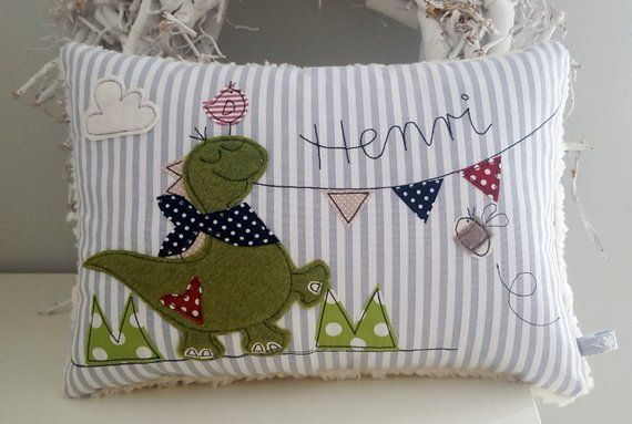Pillow Dino Name Pillow Cuddle Pillow Cojines Personalizados