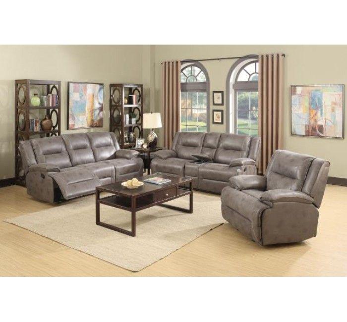 Dorothy Reclining Sofa And Loveseat Set In Gray Fabric Sofa And Loveseat Set Sofa Design Reclining Sofa