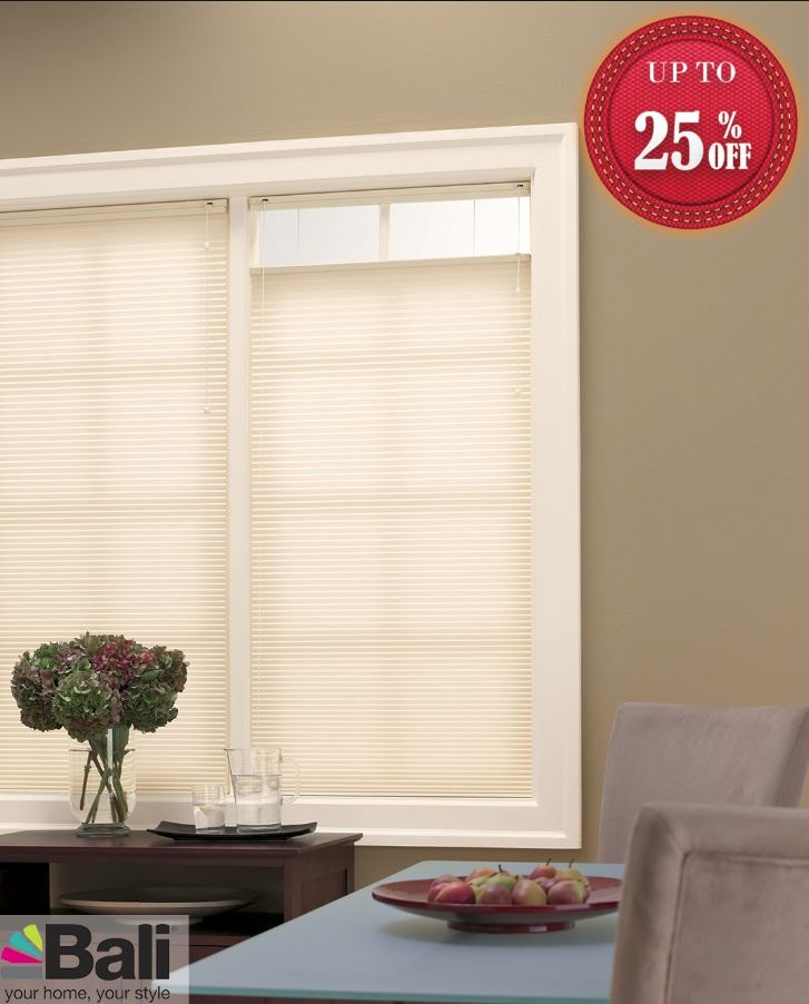 "Product Name: Bali Essentials  Collection:    Style:  3/8"" Single Cell Cellular Shades  Color Name:  Alabaster  Color Number: 1402  Shop At: http://www.blindscentral.com/bali-essentials.html"