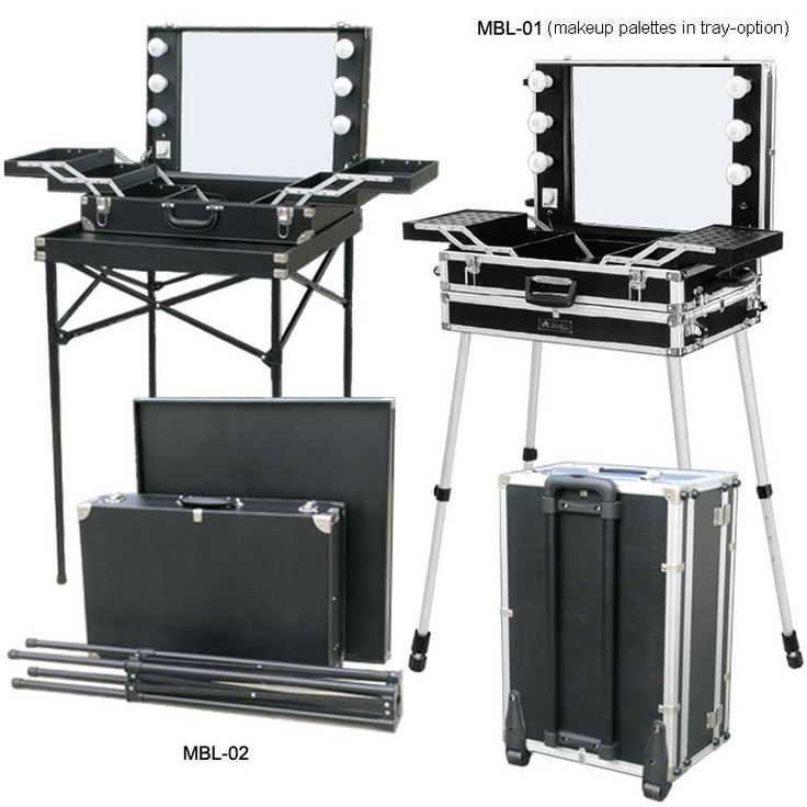 Lighted Makeup Box and Chair for Makeup Artist and Visagiste. Studio Equipment|KET - Company Profile | Home: My Office/Makeup room | Pinterest | Studio ...