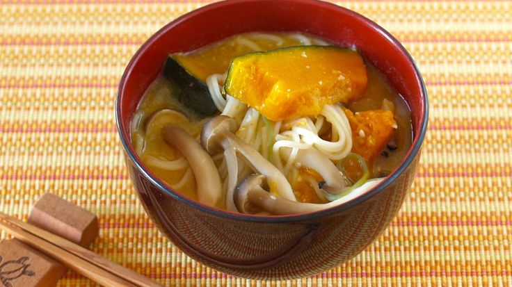 How to Make Kabocha (Pumpkin) Miso Soup with Somen Noodles (Recipe) かぼちゃ...