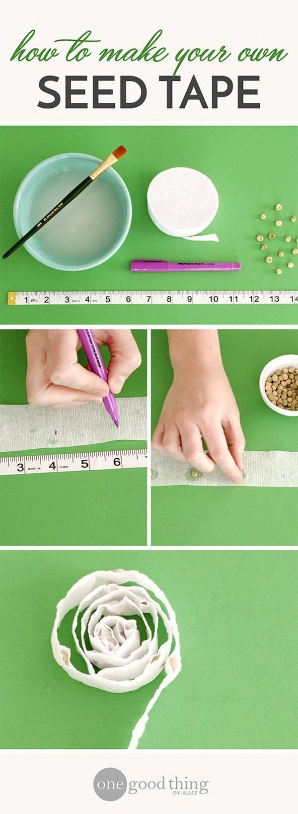 Instead of spending money on the seed tape to buy one, make your own! With DIY SEED TAPE idea given here!