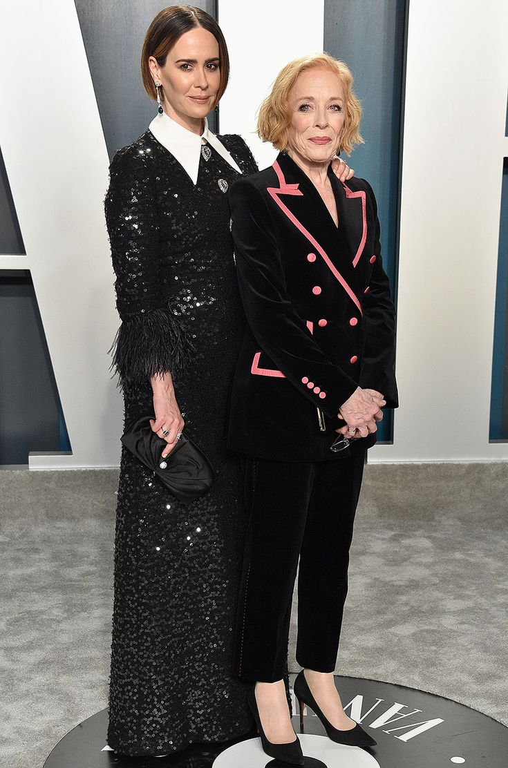 Longtime Loves Sarah Paulson and Holland Taylor Pose