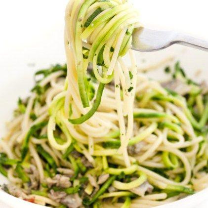 Spaghetti di zucchina alle vongole