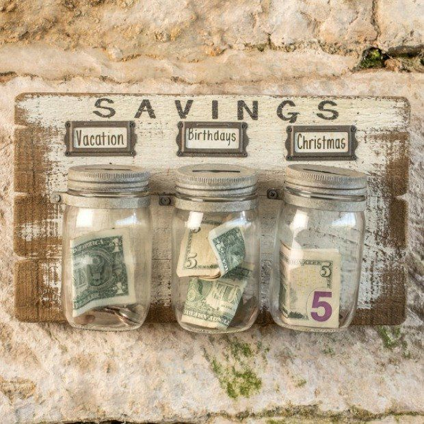 Money Saving Mason Jar Wall Hanging, Set of 3