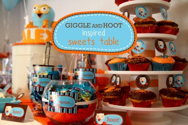 Giggle & Hoot Party - http://www.marabous.com.au/blog/2009/10/giggle-hoot-1st-birthday-party/#