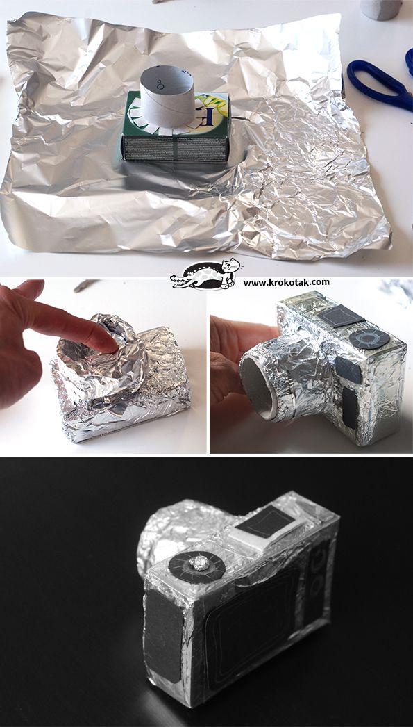 Adapt to a papier mâché activity, although aluminum foil is mess free.