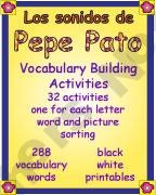 Los Sonidos de Pepe Pato Vocabulary Building Activities product from Doodles-and-Kreations on TeachersNotebook.com