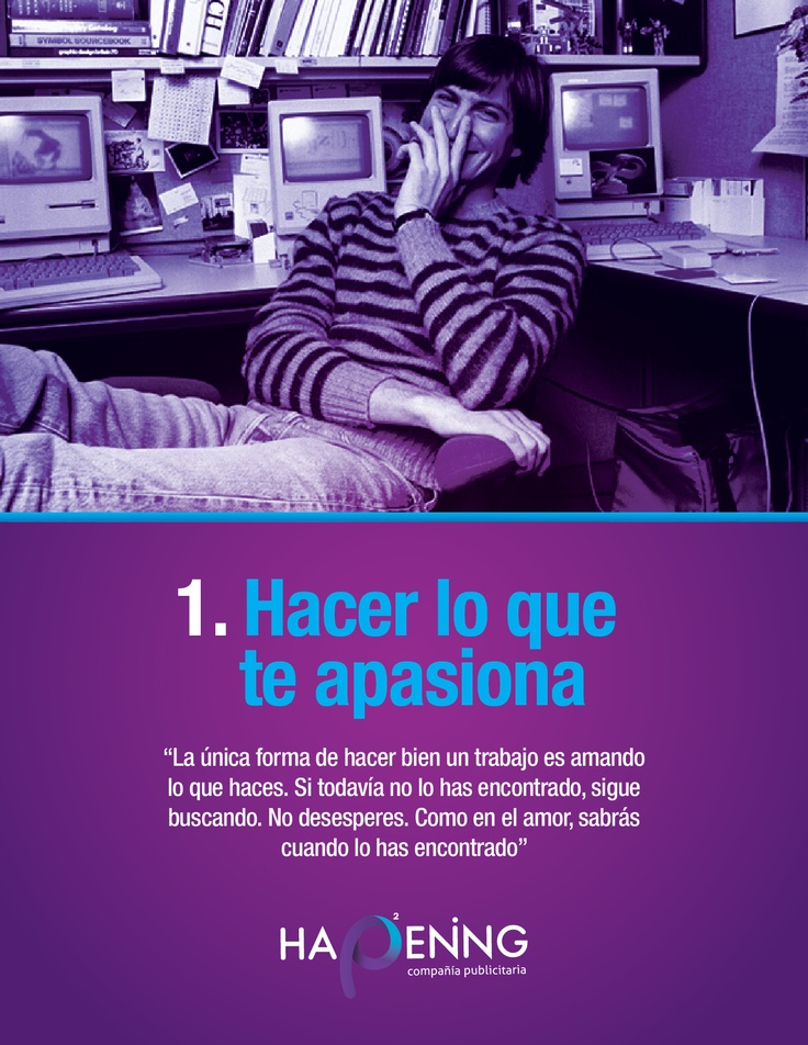 Steve Jobs, Tips, emprendimiento