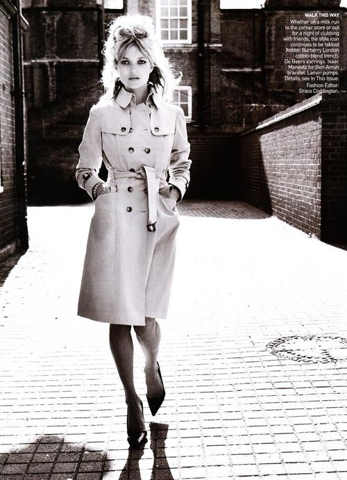 Trenchcoat  Kate Moss in Burberry for Vogue