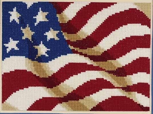American flag 4th of July USA cross stitch