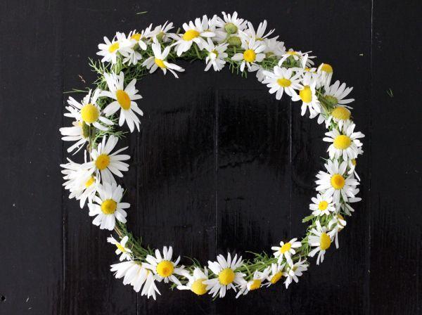 Cómo hacer una corona floral infantil con flores naturales  #diy #handmade